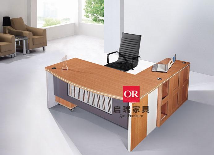原木办公桌 铁架